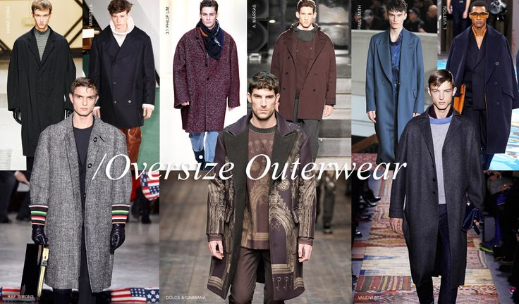 Fall Winter 2014-2015: Oversize Outerwear - Sloping shoulders