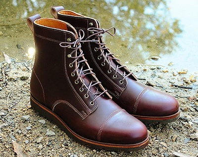 Best Use of Horween's Famous Color #8 CXL: Rancourt x Huckberry Boots | Best of the Month on Dappered.com